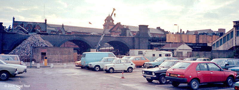 Demolition of GCR viaduct, next to Queens Road, Nottingham