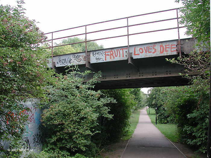 Bridge on ex-Midland railway over the Great Central Way, Leicester