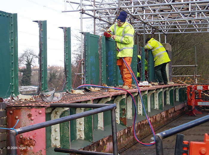 Repairs to GCR Braunstone Lane East bridge